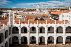 The Convent of San Felipe Neri. A view from the rooftop of the Convent of San Felipe Neri in Sucre, Bolivia Stock Image