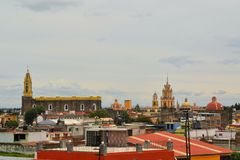 Convent of San Gabriel Church, Cholula, Mexico Stock Photography