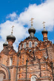 Convent in Shamordino. Cathedral of the Kazan Icon of the Mother of God in a convent in Shamordino Stock Images