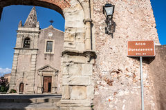 Convent of St. Agostiniano in Forza d'Agro, Sicily Royalty Free Stock Photography