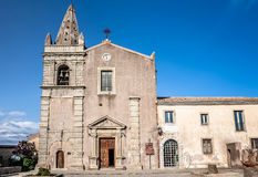 Convent of St. Agostiniano in Forza d'Agro, Sicily Stock Photo