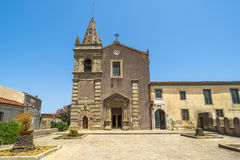 Convent of St. Agostiniano in Forza d'Agro, Sicily Stock Image
