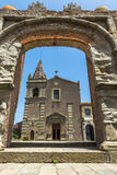 Convent of St. Agostiniano in Forza d'Agro, Sicily Stock Photos