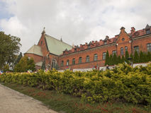 Convent where she stayed saint Faustina  in Krakow in Poland Lag. Convent where she stayed saint Faustina the old part of the shrine of mercy in Krakow in Poland Stock Images