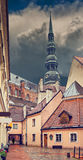 Convent yard in old Riga city Royalty Free Stock Photo