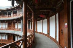 Conventi del tulou nella città di luodai, Chengdu fotografia stock