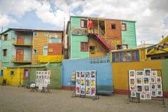 Conventillos i Caminito Fotografering för Bildbyråer
