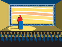Convention. Speech stock illustration