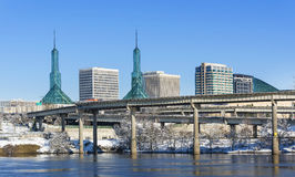 Convention Center as Seen from Portland Waterfront. Stock Photography