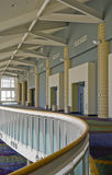 Convention center balcony. A view of a balcony or open walkway that is part of the Orange County Convention Center in Orlando, Florida royalty free stock image