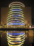 Convention Center night architecture with reflection Dublin Irel Royalty Free Stock Photos