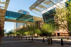 Convention Center yttersida i Phoenix, AZ Fotografering för Bildbyråer