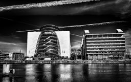 Convention Centre-2 B&W de Dublin-Le photographie stock libre de droits