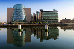 The Convention Centre Dublin. Dublin convention centre with stong reflections Royalty Free Stock Images