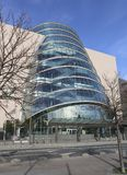Convention Centre. Dublin, Ireland. Modern architecture of Dublin stock images