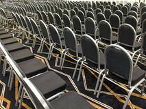 Convention hall. Rows of empty chair in convention hall Stock Image