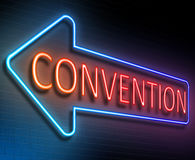Convention sign concept. Royalty Free Stock Photos