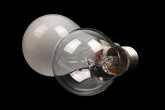 Conventional clear and frosted glass light bulbs Royalty Free Stock Photo