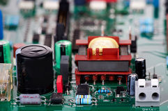 Conventional electronic components Stock Image