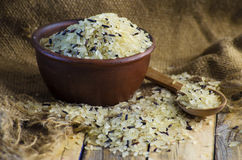 Conventional grain and wild rice Stock Photo