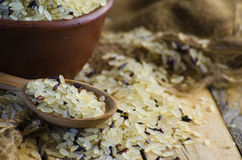 Conventional grain and wild rice Stock Images