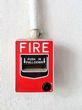 Conventional initiating devices ,fire alarm pull stations Royalty Free Stock Images