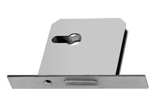 Conventional mortise lock for door Royalty Free Stock Photo