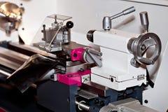 Conventional Precision Lathe machine Stock Photo