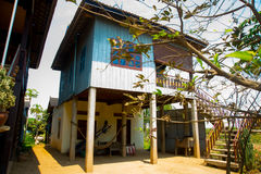 Conventional small house. Cambodia. Udong. Royalty Free Stock Images