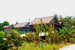 Conventional small house. Cambodia. Udong. Stock Photography