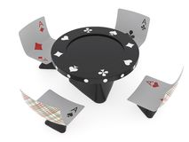 Conventionalized table and chairs for casino Stock Photo