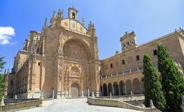 Convento da fachada de St Stephen em Salamanca Fotos de Stock Royalty Free