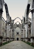 Convento da Ordem do Carmo. The mediaeval convent was ruined in the 1755 Lisbon Earthquake Royalty Free Stock Images