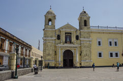 Convento de Σαν Φρανσίσκο ή μοναστήρι Αγίου Francis, Λίμα, Περού στοκ φωτογραφίες με δικαίωμα ελεύθερης χρήσης