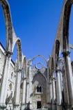 Convento de Carmen en Lisboa fotografía de archivo