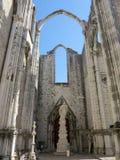 Convento de Carmo em Lisboa Fotos de Stock Royalty Free