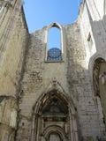 Convento de Carmo em Lisboa Imagens de Stock Royalty Free