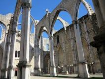 Convento de Carmo em Lisboa Foto de Stock
