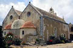 Convento de Crete Arkadi Fotos de Stock Royalty Free