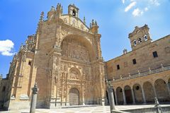 Convento de la fachada de St Stephen en Salamanca Fotografía de archivo