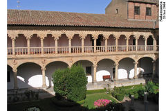 Convento de Las Duenas Claustro Salamanca Spain Royalty Free Stock Photography