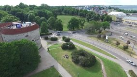 Convento de las ruinas del St Birgitta en Tallinn, Estonia metrajes