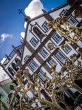 Convento de Nossa Senhora da Esperança facade. Convento de Nossa Senhora da Esperança in Ponta Delgada, Sao Miguel Island, Azores, Portugal royalty free stock image