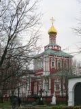 Convento de Novodevichiy local do patrimônio mundial do UNESCO em Moscou, Rússia foto de stock royalty free