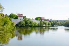 Convento de Novodevichy, também monastério um de Bogoroditse-Smolensky das vistas bonitas em Moscou, Rússia Fotografia de Stock