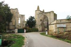 Convento de san anton. The ruins of the monastery of san anton along the pilgrimage way to santiago de compostela in spain Royalty Free Stock Images