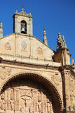 The facade of de San Esteban convent cathedral, Salamanca, Spain Stock Images