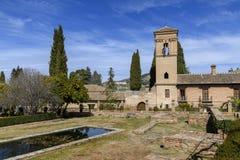 Convento de San Francisco in La Alhambra, Granada, Andalusia immagini stock libere da diritti