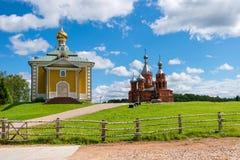 Convento de Volgoverkhovye Olginsky Imagenes de archivo
