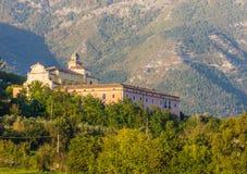 Convento di圣Nicola, Alvito, Ciociaria,意大利 免版税库存图片